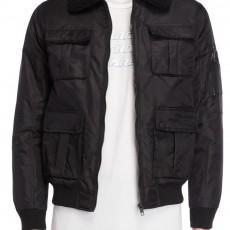 NIGHT ADDICT: Sherpa Trim Zip Jacket